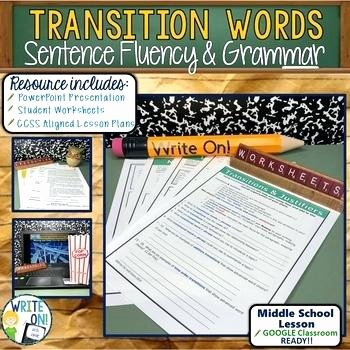 Transition Words and Phrases Worksheets Grammar Sentence Structure Worksheets Correction