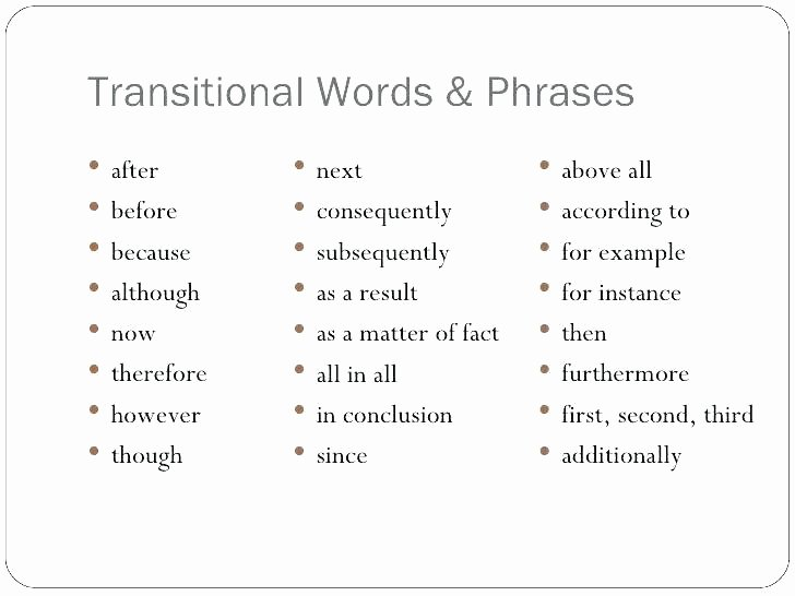 Transition Words and Phrases Worksheets Transitions 4 Transition Words Exercises Worksheets Pdf