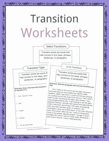 Transition Words Practice Worksheet Literary Devices Worksheets – Primalvape
