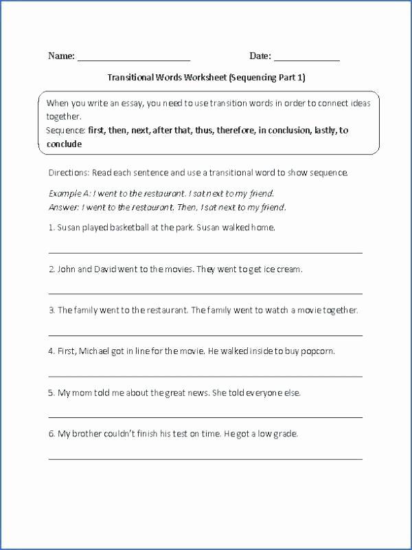 Transition Words Worksheets 4th Grade 4th Grade Paragraph Writing Worksheets