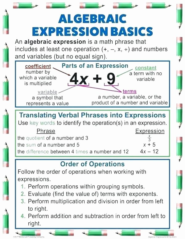 Translating Words to Expressions Worksheet Math Algebraic Expressions Worksheets