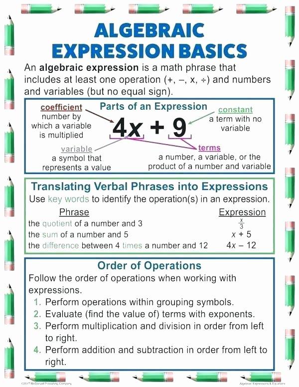 Translating Words to Expressions Worksheet Math Algebraic Expressions Worksheets