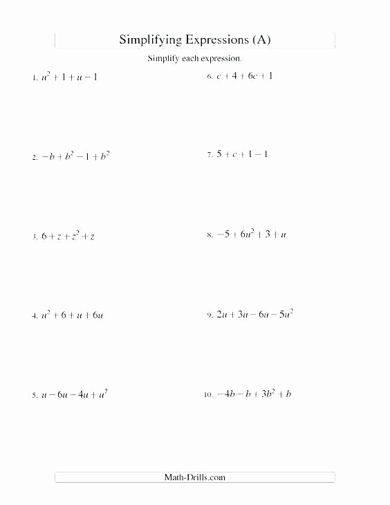 Translating Words to Expressions Worksheet Translate Algebraic Expressions Worksheet – Benaqiba