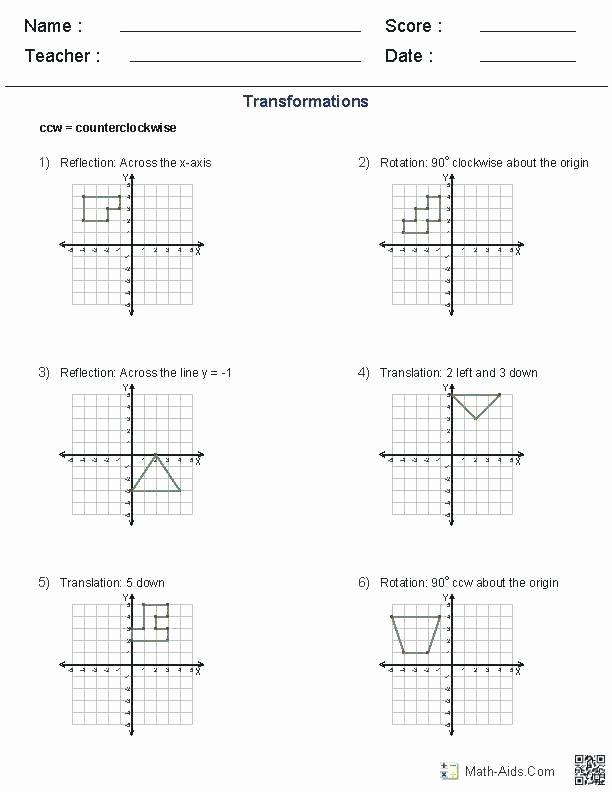 Translation Math Worksheet Pdf 3rd Grade Geometry Worksheets Pdf