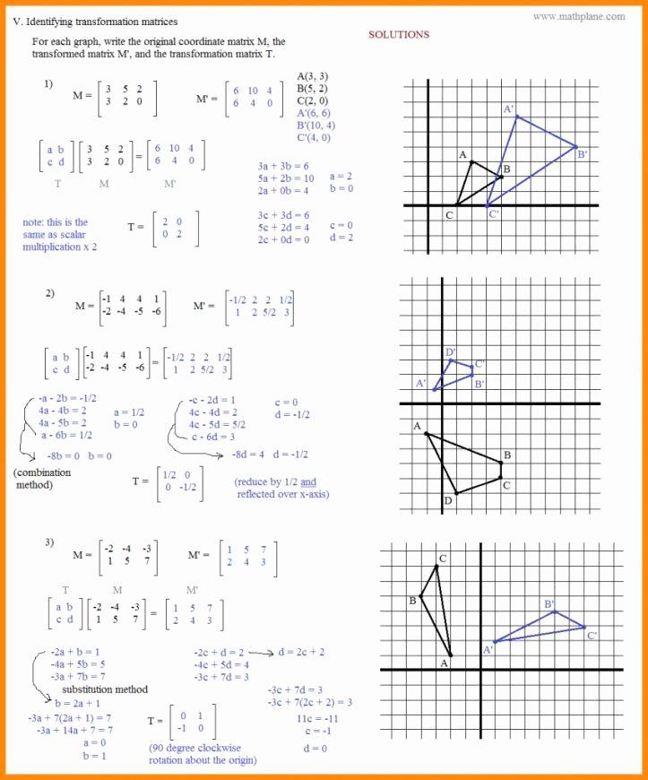 Translation Math Worksheet Pdf Rotations Geometry Worksheet 47 Recent Worksheet Rotations
