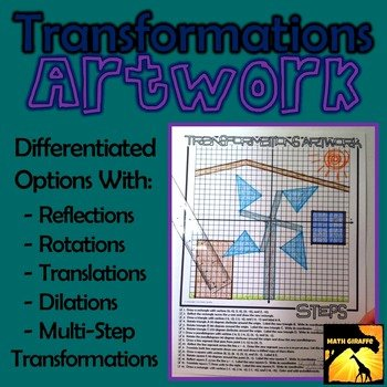 Translation Worksheets Math Transformations Artwork Rotations Reflections
