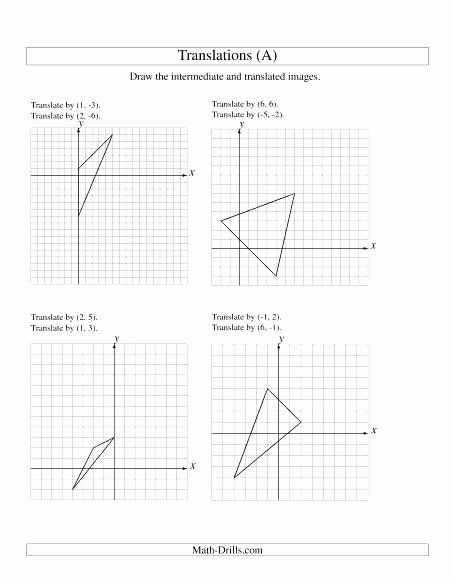 Translations Math Worksheets Identifying Transformations Worksheet Math Practice