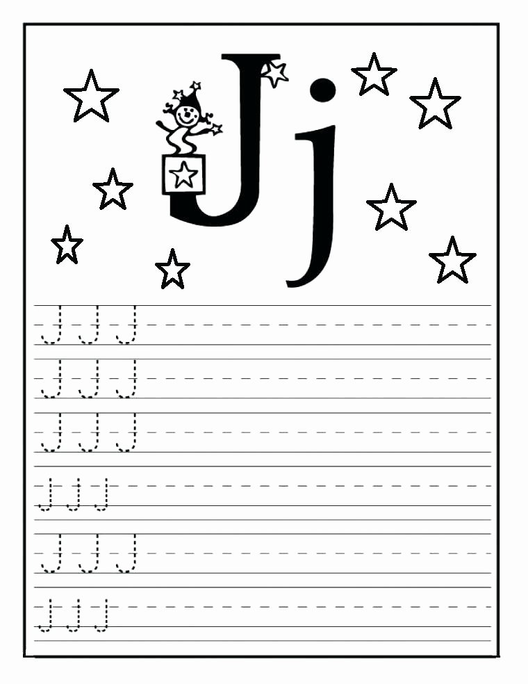 Triangle Worksheet for Kindergarten Free Printable Letter J Worksheets