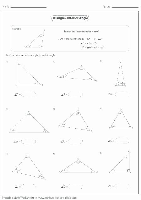 Triangle Worksheet for Kindergarten Math Angle Worksheets with Answers – atrevetehoy