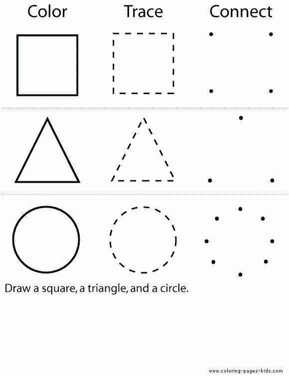 Triangle Worksheet for Kindergarten Pre K Shapes Worksheets Circle Rectangle Triangle Square