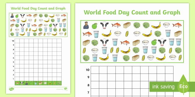 Turkey Graphing Worksheet World Food Day Count and Graph Worksheet Graphing Data