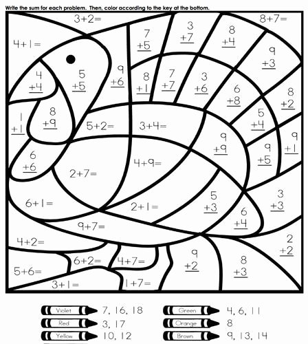 Turkey Math Worksheet Fun Easy Thanksgiving Coloring and Activities Pages for