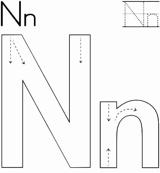 Twisty Noodle Letters Alphabets Worksheets Letter F Printable Worksheets Letter N