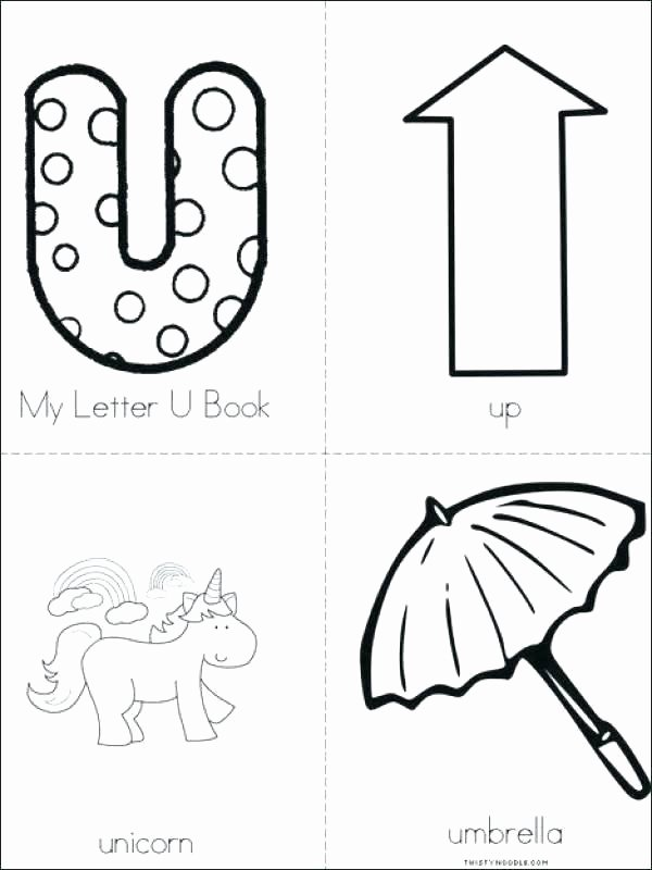 Twisty Noodle Letters Letter U Worksheets