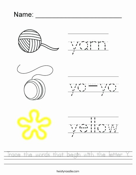 Twisty Noodle Letters Letter Y Handwriting Worksheets Writing Practice Worksheet