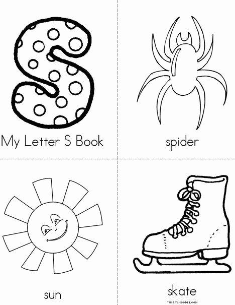 Twisty Noodle Letters My Letter S Mini Book From Twistynoodle
