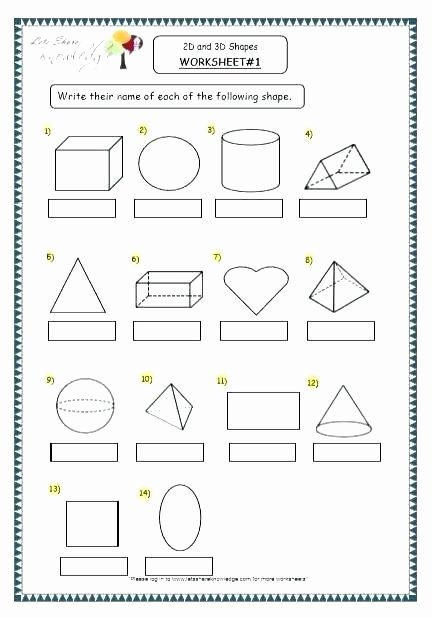 Two Dimensional Figures Worksheets Shapes Worksheets for Grade 2 Math Shape Geometry