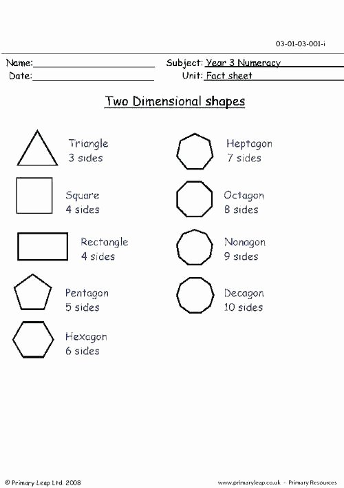Two Dimensional Figures Worksheets Shapes Worksheets for Grade 2 Two Dimensional the Best Image