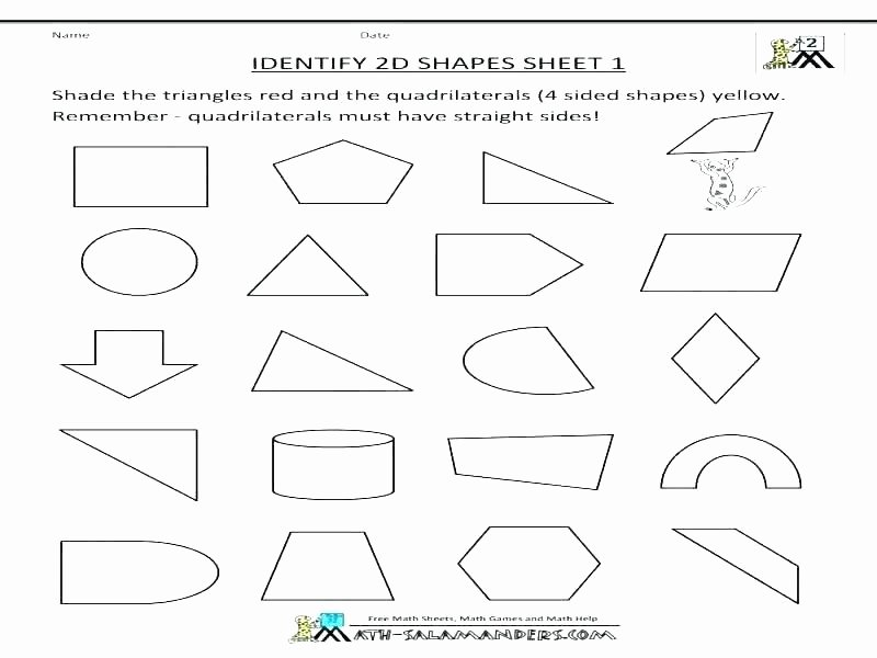Two Dimensional Shapes Worksheet Beautiful 2 and 3 Dimensional Shapes Worksheets – Trungcollection