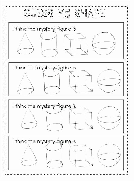 Two Dimensional Shapes Worksheet Beautiful Two and Three Dimensional Shapes Worksheets