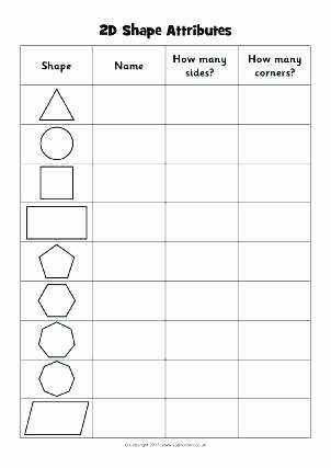 Two Dimensional Shapes Worksheet Elegant Three Dimensional Shapes Worksheets