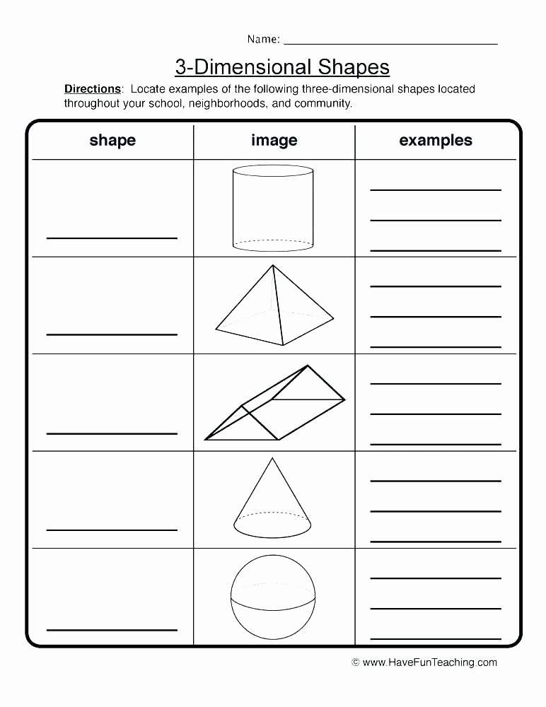 geometry worksheets have fun teaching 3 d shapes worksheet 2 grade polygons free math printable for 4 volume of dimensional