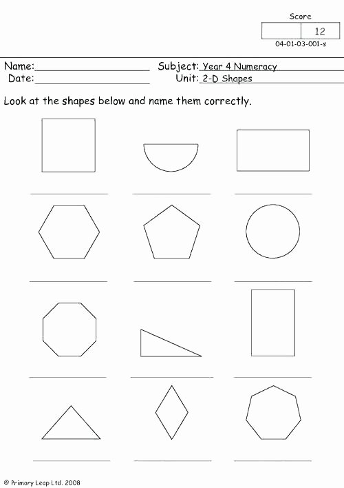 Two Dimensional Shapes Worksheet New Two Dimensional Shapes Worksheets Grade 2