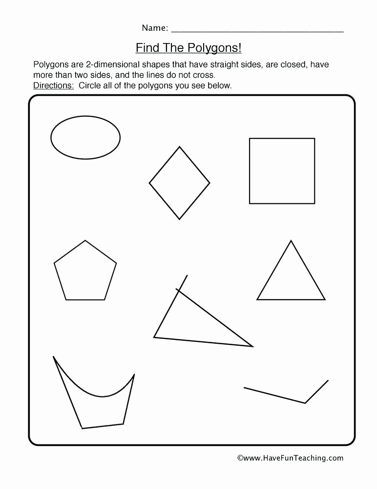 Two Dimensional Shapes Worksheets Teaching Shapes Worksheets – atrevetehoy