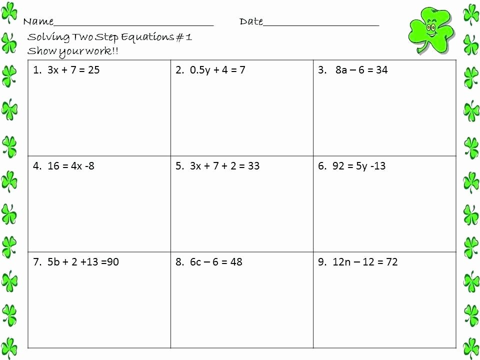 Two Step Equations Coloring Worksheet Algebraic Equations Worksheets Grade Algebra 2 solving