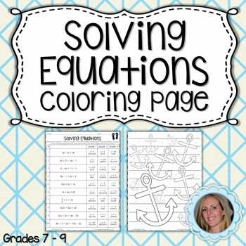 Two Step Equations Coloring Worksheet Pinterest – Пинтерест