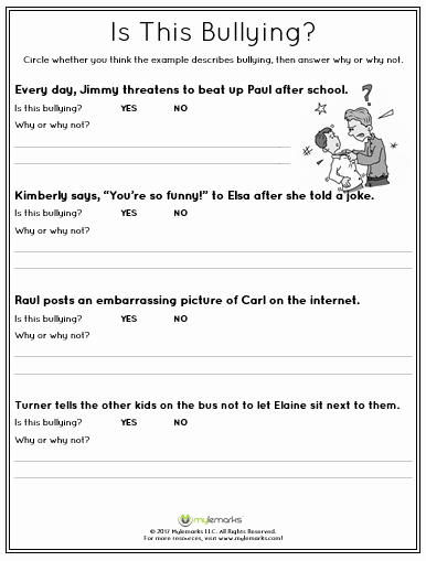 Types Of Conflict Worksheet Preschool Worksheets About Bullying