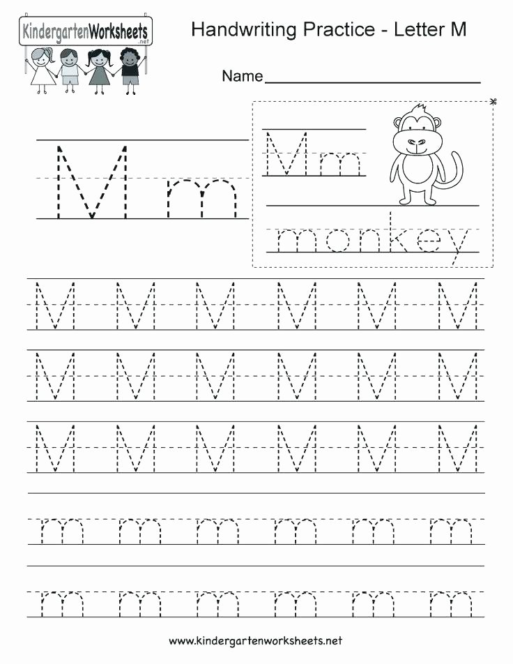 Typing Practice Worksheets New Kindergarten Alphabet Worksheets Handwriting Letter M