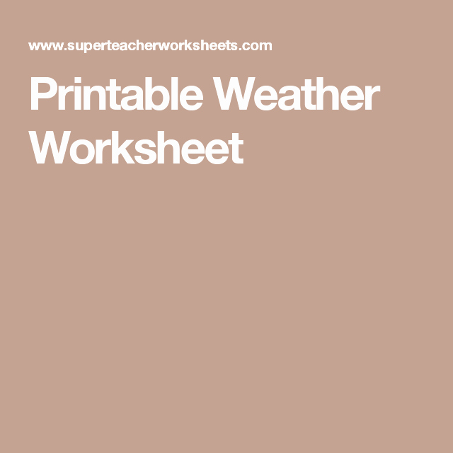 Typing Worksheets Printables Printable Weather Worksheet