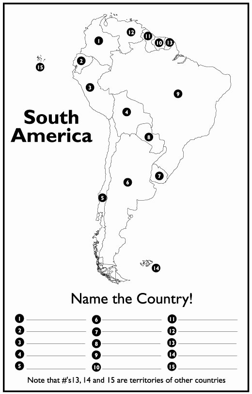 United States Map Quiz Worksheet Central and south America Map Quiz Lovely United States and