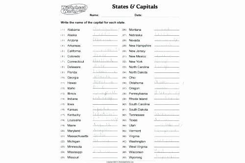United States Map Quiz Worksheet State Capitals Worksheets – Primalvape