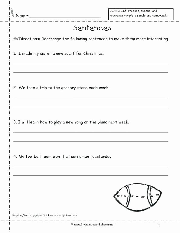 Unscramble Sentences Worksheet Writing Plete Sentences Worksheets Kindergarten Download