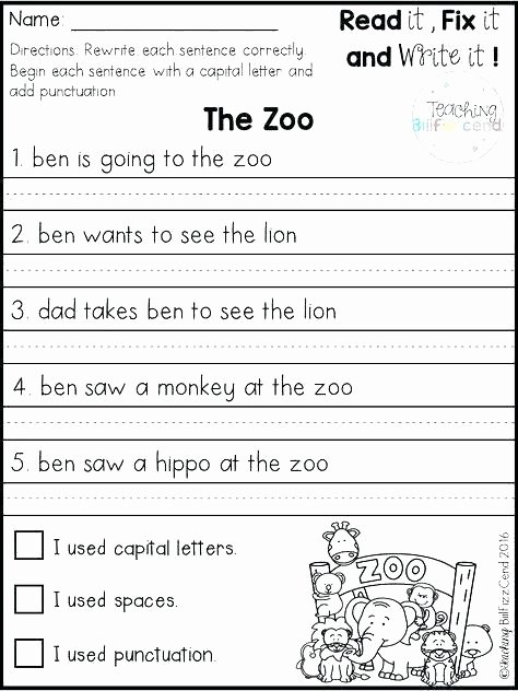 Unscramble Sentences Worksheets 1st Grade Unique Printable Worksheets Unscramble Sentence 2nd Grade Sight