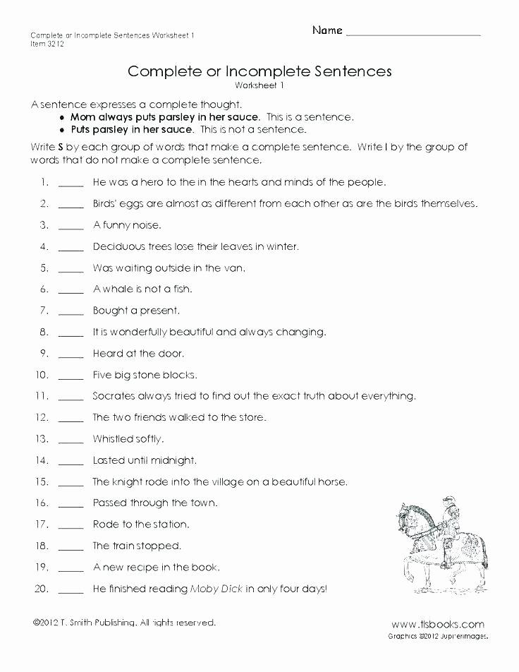 Unscramble Sentences Worksheets forming Sentences Worksheets