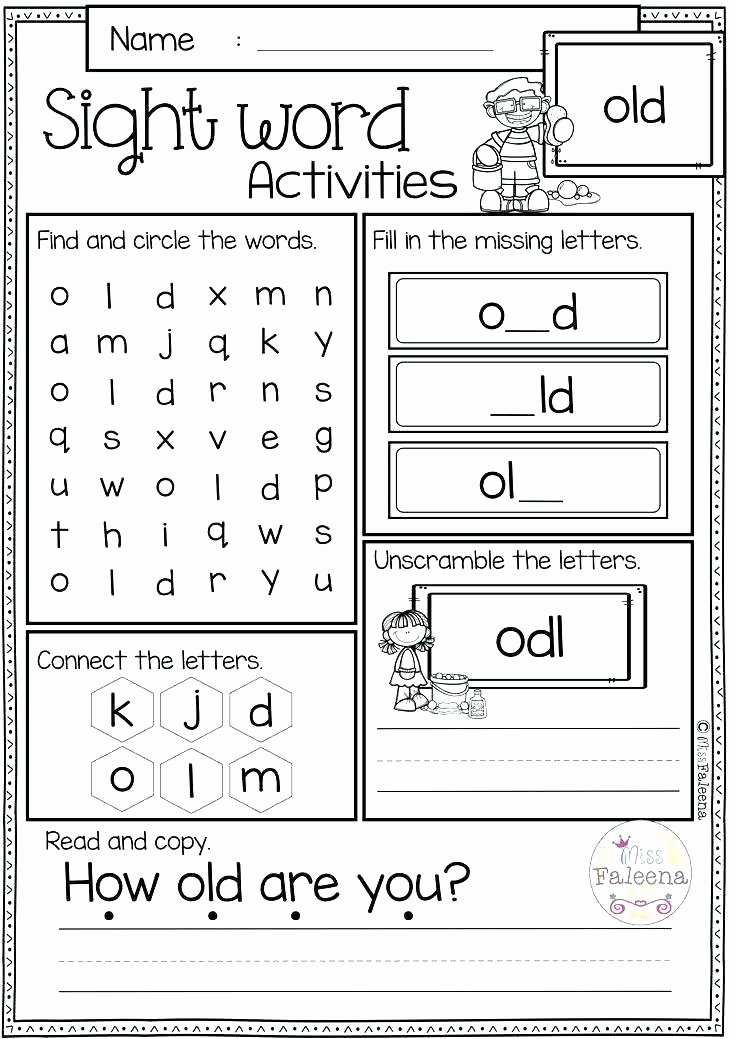 Unscramble Sentences Worksheets Kindergarten Sight Word Sentences Worksheets