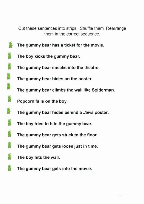 Unscramble Sentences Worksheets Sentence Worksheets