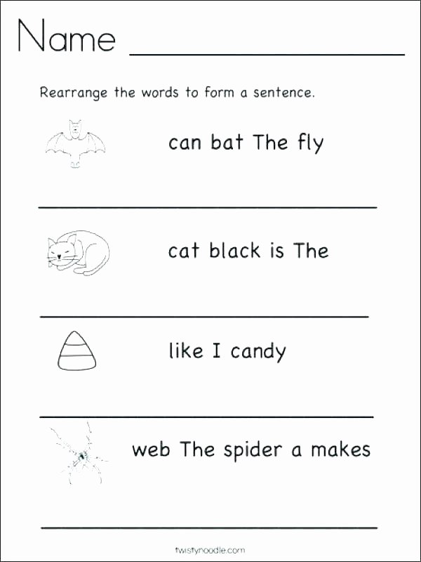 Unscramble Sentences Worksheets Sentence Writing Worksheets First Grade – Deglossed