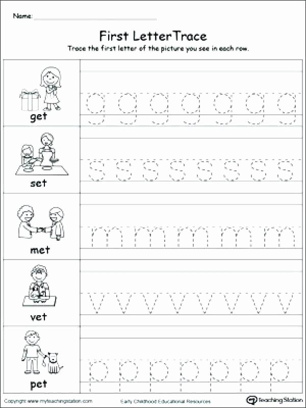 Upper and Lowercase Tracing Worksheets Free Letter Tracing Worksheets