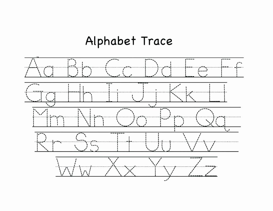 Upper and Lowercase Tracing Worksheets Preschool Alphabet Writing Worksheets Kids Alphabet Tracing