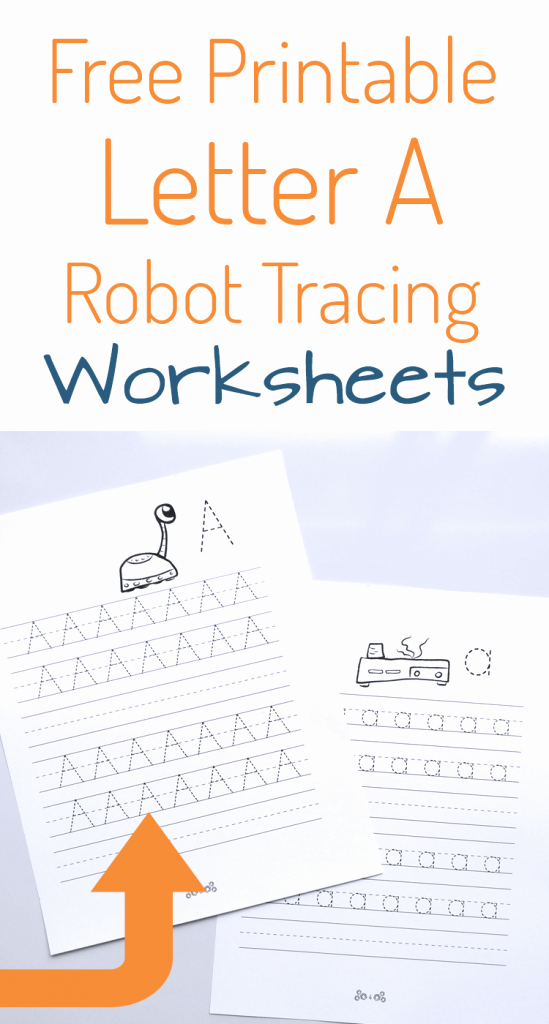 Upper and Lowercase Tracing Worksheets Robot Letter Tracing Free Printable A