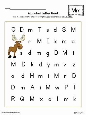 Uppercase and Lowercase Worksheets Alphabet Letter Hunt Letter M Worksheet Color