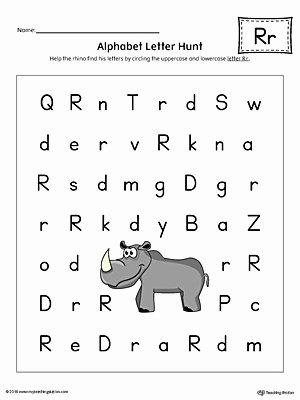 Uppercase and Lowercase Worksheets Alphabet Letter Hunt Letter R Worksheet Color