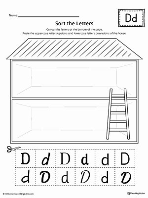 Uppercase and Lowercase Worksheets sort the Uppercase and Lowercase Letter D Worksheet