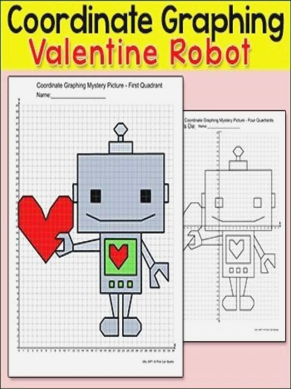Valentine Day Coordinate Graphing Worksheets ordered Pairs Worksheet