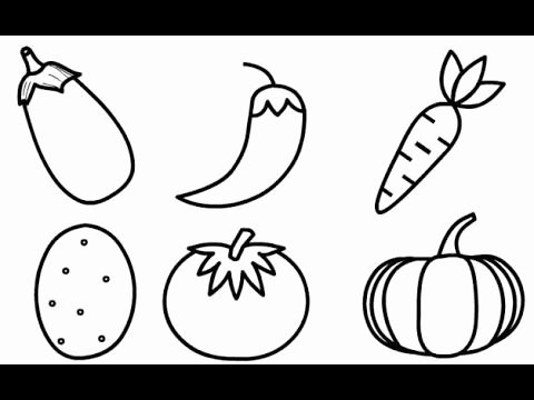 Vegetable Worksheets for Kindergarten Drawing 6 Ve Ables Drawing for Kids