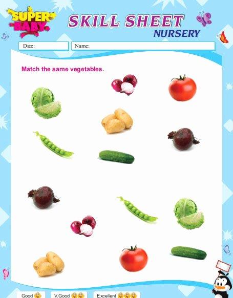 Vegetable Worksheets for Kindergarten Free Worksheet English for Preschool